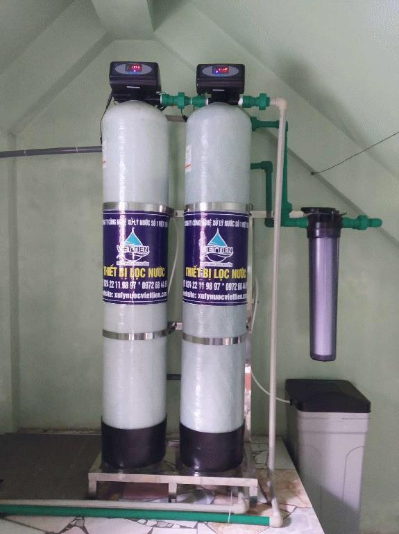 xử lý nước đầu nguồn 2 cột gia đình